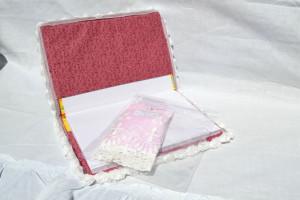 obal na knihu - art quilt zevnitř