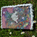obal na knihu - art quilt